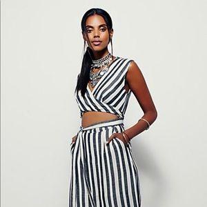 FREE PEOPLE LA Babe Stripe Midi Dress NEW!! NWOT